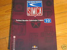 FASCICULE BOOKLET  N° 10 SIMCA TALBOT SAMBA CABRIOLET