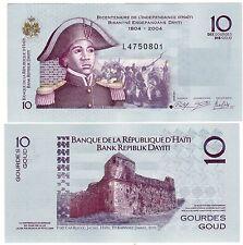 HAITI Billet 10 Gourde 2004 ( 2012 )  P272 COMMEMORATIVE NEUF UNC