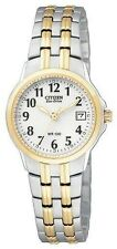 Ladies Citizen Eco-Drive Two Tone Stainless Silhouette Watch W Date EW1544-53A