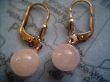 Rosenquarz Ohrhänger Gold 333, Ohrhänger Gold 333 mit Rosenquarz Kugel 8 mm
