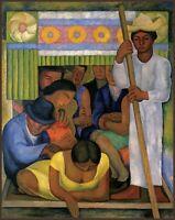 "DIEGO RIVERA Art Poster or Premium Canvas Print /""Retrato de Inesita Martinez/"""