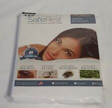 New SafeRest Premium Waterproof Dust Mite BedBugs Bacteria Pillow Protector King
