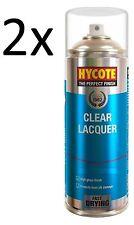 2x Hycote Clear Lacquer Car, Van, Bike Spray Paint Aerosol 400ml New