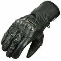 Motorradhandschuhe Leder Motorrad Handschuhe Schwarz XS S M L XL XXL