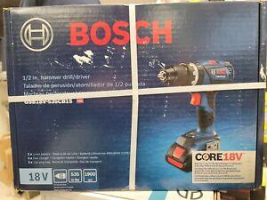 "Bosch CORE 18V GSB18V-535CB15 1/2"" Hammer Drill / Driver Kit (New In Box)"