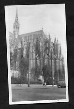 C1950's View of a VW Camper Van outside Cologne Cathedral, Germany