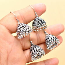 Wholesale 2Psc Lot Silver Plated Indian Trending Ghungroo Jhumki Earring RC3835