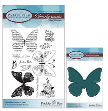 Prickley Pear Butterfly Clear Stamp and Die Set # 1 Butterflies