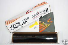"2Ply Dyed Black Window Tint Film 15% VLT 40""x100 feet Roll+Tool Auto Home Office"