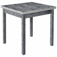 "Hubert Nesting Table with Metal Band Rustic Grey Wood - 29"" L x 29"" W x 29 1/2 H"