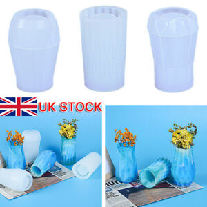 DIY Flower Vase Resin Casting Mold Planter Bud Holder Epoxy Mould Craft Silicone