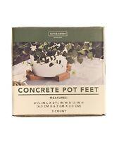 Smith & Hawken Concrete Pot Feet Plants Planters Lot Of (3)
