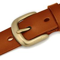 2019 Vintage Women's Belts Cow Leather Belt Brass Buckle Belt for Jeans XS-3XL