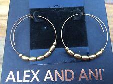NEW ALEX and ANI Endless Russian GOLD JORDAN SMALL Beaded HOOP EARRINGS