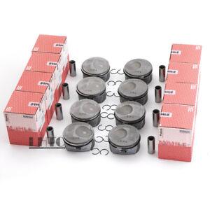 8x Pistons & Rings Kit Mahle For Porsche Cayenne Panamera S GTS 4.8L V8 957 970