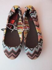 New Missoni for Target Girls Size 1 Zig Zag Chevron Knit Ballet Flat Shoes