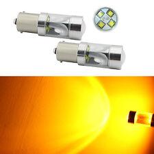 2x 40W Bau15s 150° 7507 PY21W High Power LED Turn Signal Light Bulb Amber Yellow