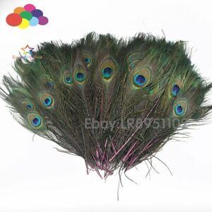 New 100 pcs/lot of beautiful Pink peacock feathers 25-30cm DIY weddings reunions