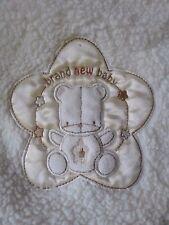 Rene Rofe Cream Brand New Baby Bear Baby Blanket  Satin Trim Beige