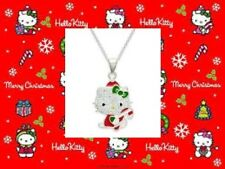 CHRISTMAS HELLO KITTY STERLING SILVER PENDANT NECKLACE