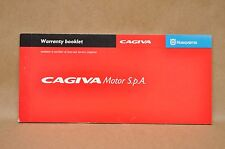 New Husqvarna Cagiva Motorcycle Warranty Booklet Service Coupons Certificates