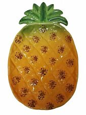 Pineapple Ceramic Hand Painted Serving Plate / Platter Welcome & Hospitality