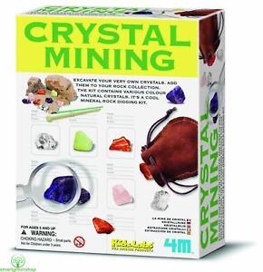 4M Kidz Labs Crystal Mining, Educational Mineral Rock Digging Kit