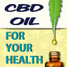CBD OIL FOR YOUR HEALTH (CHOOSE YOUR SIZE) PERF WINDOW VINYL DECAL NEW