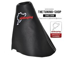 FOR SEAT TOLEDO MKII 1999-05 BLACK LEATHER GEAR GAITER NURBURGRING EMBROIDERY