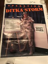 RARE Mike Ditka OPERATION DITKA STORM 1991 Chicago Bears VINTAGE Poster
