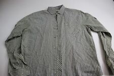 Penguin Yellow Gray Check LONG SLEEVE SHIRT Large L 16 x 35/36 Heritage Slim