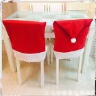 Cute Santa Red Hat Chair Covers Christmas Decor Dinner Chair Xmas Covers Cap Set