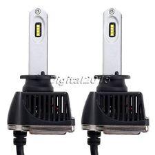 1Pair 80W 16000LM H1 Car LED Headlights   Chips Headlamp Bulb 6000K White
