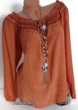 Plus Size Women Ladies Off Shoulder Long Sleeve Blouse Casual Loose T Shirt Tops