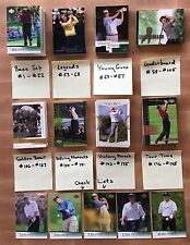 2001 Upper Deck Golf Complete 200 Card Set Lot Tiger Woods John Daly Rookies