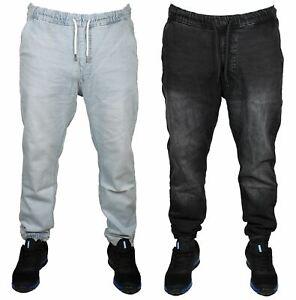 Mens Boys Joggers Elasticated Waist Cuffed Leg Judge & Jury Casual Denim Pants