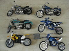 Lot of 3 Harley Davidson Assorted Collectible Mini Motocycles & 3 Bonus Cycles