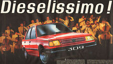 Publicité Advertising 1986  (Double page)  PEUGEOT 309  Diesel