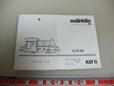 A451-0,5 # Märklin/Marklin Istruzioni Köf II