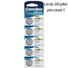 Lot de 100 piles boutons CR2032 3V camélion, livraison rapide et gratuite !