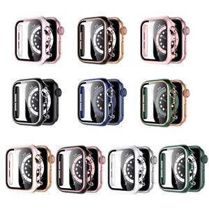 Full Cover Ultra Thin Hard PC Glass Case for Apple Watch 6 5 4 3 SE 38/42/40/44