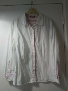 Joe Browns White With Pink Trim Shirt Size 24