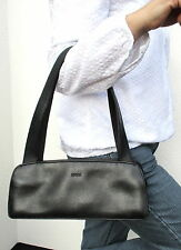 "BREE Damen Handtasche Leder schwarz 31 cm ""Baguette""-Stil WIE NEU"