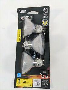 Feit Enhance MR16 LED Bulb 450 Lumens Daylight Track 50Watt 3000k Color Gu10