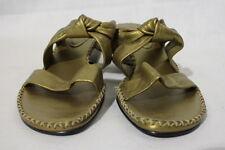 HISPANITAS Metallic Bronze Open Toe Mules, Womens Size US 9/40, Spain B24