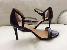 NEW MICHAEL Michael Kors Simone Patent Leather Black Sandals US 7.5