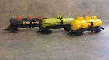 N Scale Oil Tank Cars Freight Stock Cars Shell Union Penn Salt