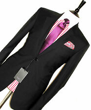 BNWT MENS PAUL SMITH THE WILLOUGHBY LONDON BLACK TAILOR-MADE SUIT 38R W32