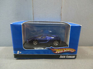 HO Scale 2007 Hot Wheels Diecast 1:87 Display Stand Case Car Enzo Ferrari Blue 2
