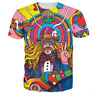 New Fashion Womens/Mens Hippie Musician Funny 3D Print Casual T-Shirt JK183